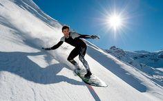 Surfing on snow