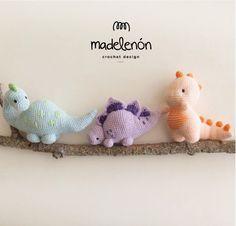 My Jurassic World Amigurumi Crochet Pattern Crochet Dinosaur Patterns, Crochet Patterns Amigurumi, Crochet Toys, Cute Crochet, Crochet Baby, Knit Crochet, Half Double Crochet, Single Crochet, Stuffed Animal Patterns
