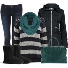 30 Warm And Cozy Polyvore Combinations For The Winter( not those boots though)