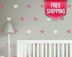 Heart Wall Decals - Heart Wall Stickers - Heart Decals - Heart Wall Decor - Heart Pattern Wall Decals - FREE INTERNATIONAL SHIPPING by StickerWorkshopEtsy on Etsy https://www.etsy.com/listing/257941219/heart-wall-decals-heart-wall-stickers