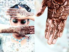Mehndi tattoos can be placed on hands, arms and feet.