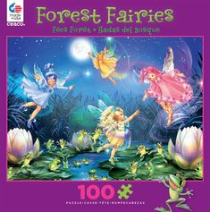 Ceaco Forest Fairies Jigsaw Puzzle 100-Piece - Fairies with Dancing Frogs