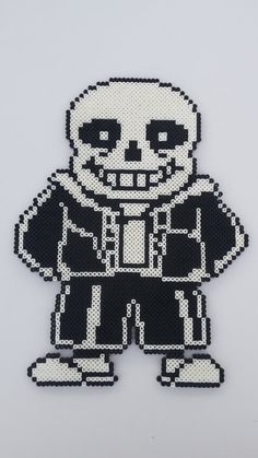 Undertale Sans Perler Bead Sprite Pixel Art by MolesBeads on Etsy