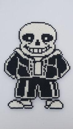 Undertale Sans Perler Bead Sprite Pixel Art by MolesBeads on Etsy