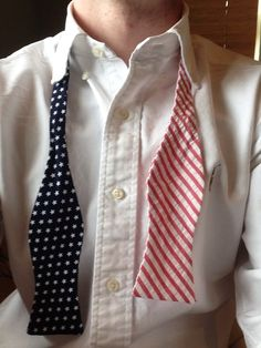 The dapper red, whites and blue #BowTie