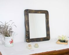 Mirrored picture frame Poplar wood Reclaimed wood by mbframes