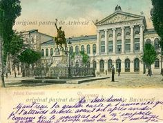 Bucharest University Square, 1900