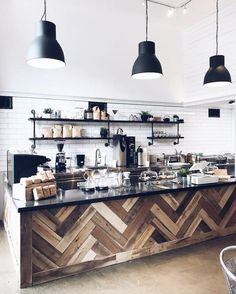 Fabolous Scandinavian Theme for Cozy Coffee Shop ⋆ Main Dekor Network Bar Restaurant Design, Decoration Restaurant, Deco Restaurant, Restaurant Ideas, Coffe Shop Decoration, Coffee House Decor, Design Café, Floor Design, House Design