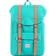 #Backpacks, #HerschelSupplyCo, #LaptopBackpacks - Herschel Supply Co. Little America Mid-Volume Green - Herschel Supply Co. Laptop Backpacks