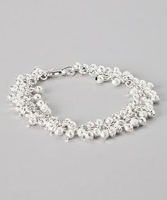 Take a look at this Silver Julie Bracelet by Cate & Chloe on #zulily today!