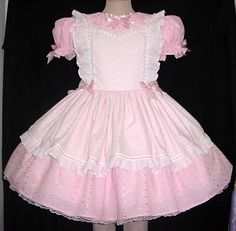Sugar and Spice adult sissy baby little girl dresses by Annemarie | Pinny on Pink Eyelet