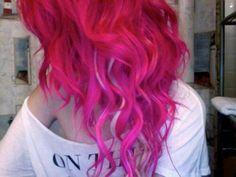 Curly pink hair <3 #pink #hair