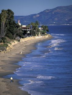 Santa Barbara, CA...I wanted to live there...until I saw how expensive real estate was;)
