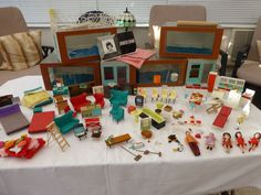 Jennys Home vintage dolls house, dolls & Tri-ang furniture.   eBay
