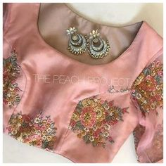 Image may contain: 1 person Blouse Neck Designs, Blouse Styles, Dress Designs, Pakistani Outfits, Indian Outfits, Saree Blouse Patterns, Indian Blouse, Beautiful Blouses, Work Blouse