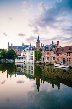 In picturesque Bruges, Belgium. Along with a few other canal-based northern cities, such as Amsterdam and Stockholm, it is sometimes referred to as The Venice of the North.