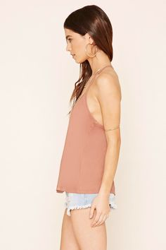 Faux Suede Crochet Cami | Forever 21 - 2000204877