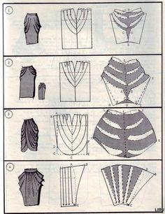 Como transformar un patrón básico de falda. Es mucho más sencillo de lo que parece!