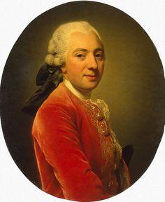 Alexander Roslin  Portrait of a Man Wearing a Red Caftan