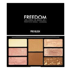 Freedom Makeup - Rouge Palette - Pro Blush Palette - Bronze and Baked