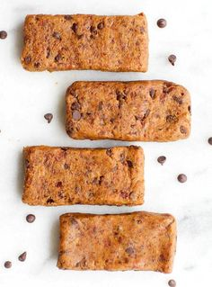 Healthy 3 Ingredient No Bake Cookie Dough Protein Bars- Made with NO flour, grains or sugar and SO fudgy- Vegan, paleo, gluten free! -thebigmansworld.com