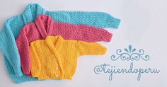 Paso a paso: saco cuello smoking para niños tejidos en 2 agujas o #palitos #tricot #knit