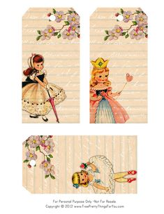 Vintage Tag freebies by FPTFY by Free Pretty Things For You!, via Flickr