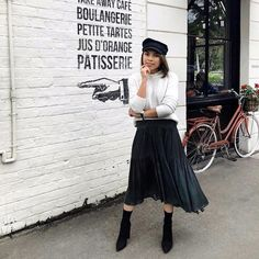 I've been getting alot of questions lately around how to wear your fave Summer dresses in Winter, and so I thought I'd share my tips with… Winter Dresses, Summer Dresses, Midi Skirt, Stylists, My Style, Skirts, How To Wear, Instagram, Tips
