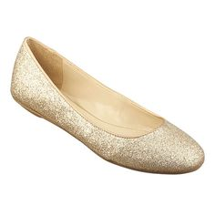 Cute champagne sparkle flats