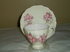 Vintage fine china vintage teacup and saucer by DivaDecades