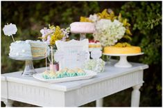 Mothers day dessert table