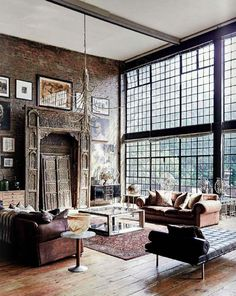 Going for these interior design loft style ideas may very well be the best living style for you, and you do not know it yet Industrial Interiors, Industrial House, Industrial Chic, Industrial Windows, Industrial Design, Vintage Industrial, Industrial Bedroom, Industrial Shelving, Industrial Farmhouse