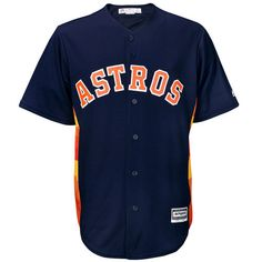 Houston Astros Majestic Official Cool Base Alternate Jersey - Navy