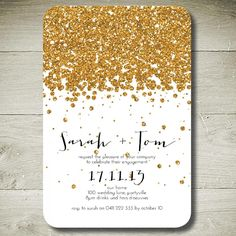 $14 ALL THAT GLITTERS printable custom invitation by theparchmentplace on Handmade Australia