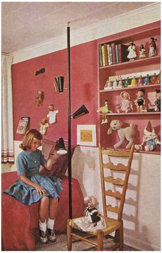 1950s Decor, Interior Design Living Room, Kids Bedroom, Home Appliances, Children, Unique, Saddle Shoes, Vintage Handbags, Home Decor