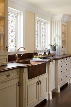 Copper sinks are one of the most highly desired amenities in high-end kitchens.