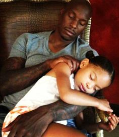 Tyrese and his daughter
