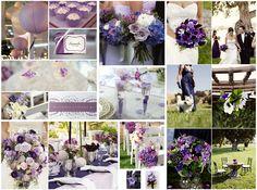 #Purple #wedding inspiration...nice balance of dark (eggplant-ish) and light  (lavender-ry) shades.