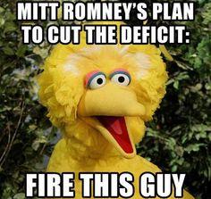 Big Bird vs Romney.