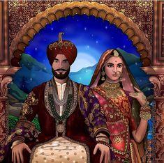 Maharaja Ranjit Singh (Sanadhawalia Jat) with his wife Maharani Jindan ( Aulakh Jat) . Maharaja Ranjit Singh, Facts You Didnt Know, Victoria And Albert Museum, Watch V, North West, Reign, History, Artwork, Historia