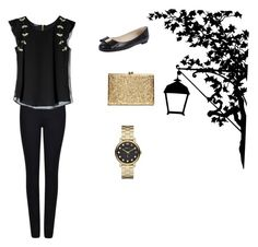 """""""Winter night outfit"""" by laurenflynn23 on Polyvore featuring Skylar Blake, Giorgio Armani, GUESS by Marciano and Marc by Marc Jacobs"""