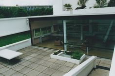 Villa Savoye -Le Corbusier, patio. Poissy, France. 1928.