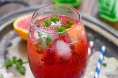muddle raspberry orange spritzer