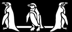 ¿Qué te parece esta sencilla cenefa de pingüinos? Es muy adecuada para un cuarto infantil, un cuarto de baño o un zócalo en el jardín cerca de la piscina.