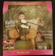 Kelly and Baby Pony Barbie Riding Club 1998 Mattel Collectible Toy Doll NRFB for sale online Barbie Kelly, Barbie And Ken, Barbie Life, Barbie Dream, Vintage Barbie Dolls, Mattel Dolls, Barbie Horse, Barbie Playsets, Baby Pony