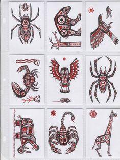 Haida ATC by AgrifexYou can find Haida art and more on our website.Haida ATC by Agrifex Haida Kunst, Arte Haida, Haida Art, Native American Totem, Native American Symbols, American Indians, Arte Tribal, Tribal Art, Tatuagem Haida