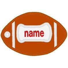 Football Luggage Tag - 2 Sizes! | Football | Machine Embroidery Designs | SWAKembroidery.com Band to Bow