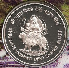 coins and more: Shri Mata Vaishno Devi Shrine Board (SMVDSB) – Silver Jubilee: Honouring Temples and Saints of India: A five rupee commemorative coin issued by Reserve Bank of India, in May Old Coins Price, Sell Old Coins, Old Coins Value, Mata Vaishno Devi, Rare Gold Coins, Saints Of India, Coin Prices, Coin Art, History Of India
