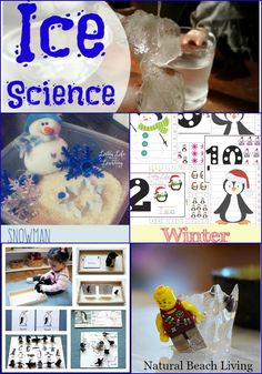 Winter Activities, Science, Printables, Penguins, Sensory Play and more via Natural Beach Living
