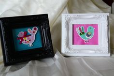 Quirky Funky Bird Photo Frame Set £10.00